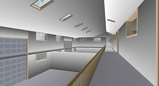 building artists impression inside
