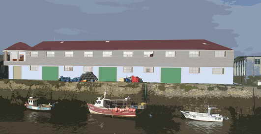 building artists impression sea side